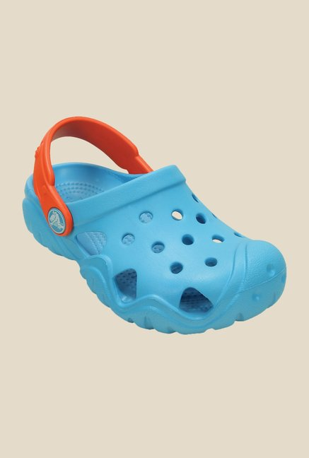Crocs Swiftwater Blue & Tangerine Clogs