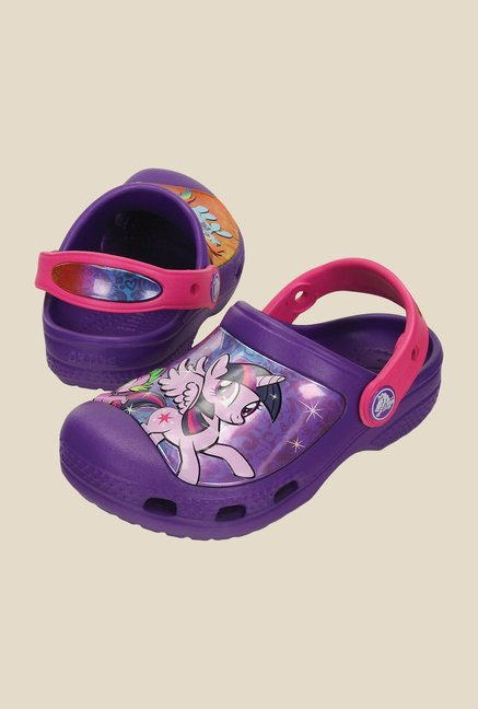 Crocs CC My Little Pony Neon Purple Clogs