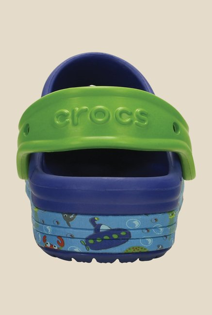 Crocs Bump It Sea Life Cerulean Blue Clogs