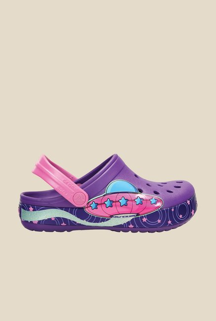 Crocs Crocband Galactic Girls Neon Purple Clogs