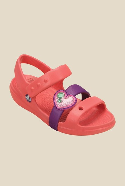 95ce1ebff Buy Crocs Keeley Springtime Coral   Amethyst Floater Sandals For ...