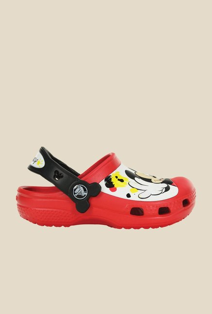 Crocs CC Disney Mickey Paint Splatter Red & Black Clogs