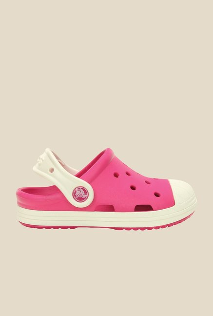 Crocs Bump It Candy Pink & Oyster Clogs