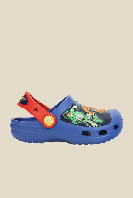 Crocs CC Justice League Sea Blue & Red Clogs