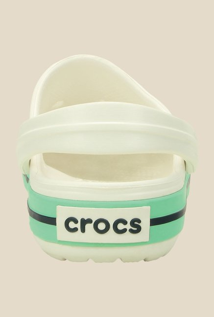 Crocs Crocband White & New Mint Clogs