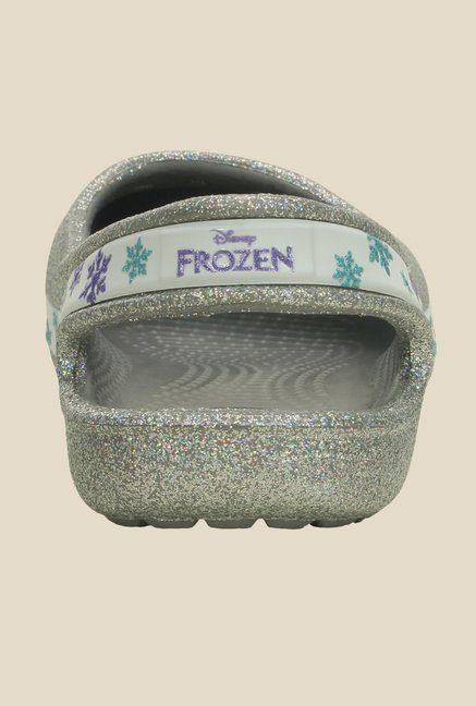 Crocs Genna II GS Silver Sling Back Sandals