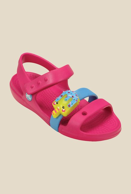 Crocs Keeley Sweets LED Candy Pink Floater Sandals