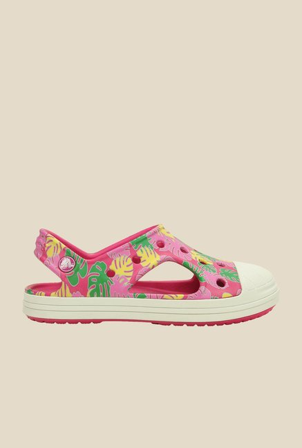 Crocs Bump It Tropical Candy Pink Sling Back Sandals