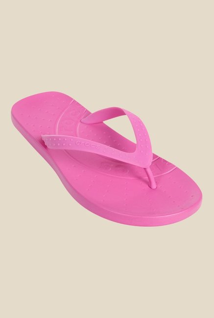 e6290a76e Buy Crocs Kids Chawaii Party Pink Flip Flops for Girls at Best Price ...