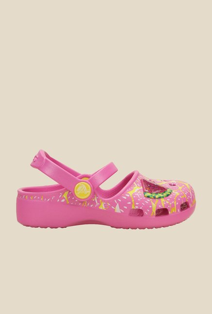 Crocs Karin Watermelon Party Pink Clogs