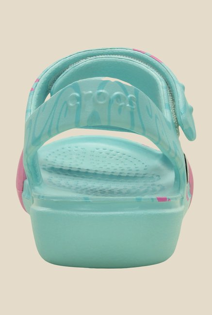Crocs Keeley Ice Blue Floater Sandals