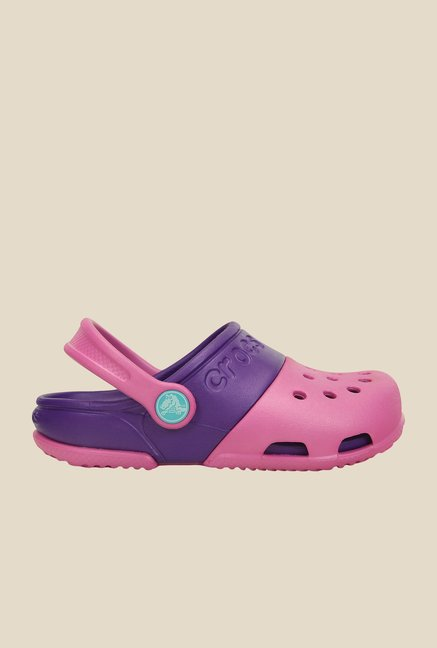 Crocs Electro II Party Pink & Purple Clogs