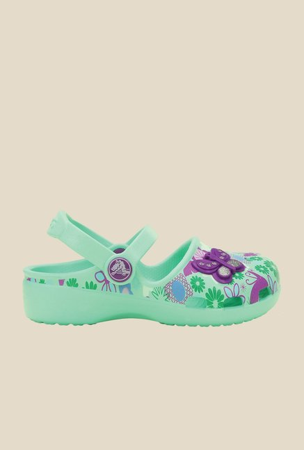 Crocs Karin Butterfly New Mint Clogs