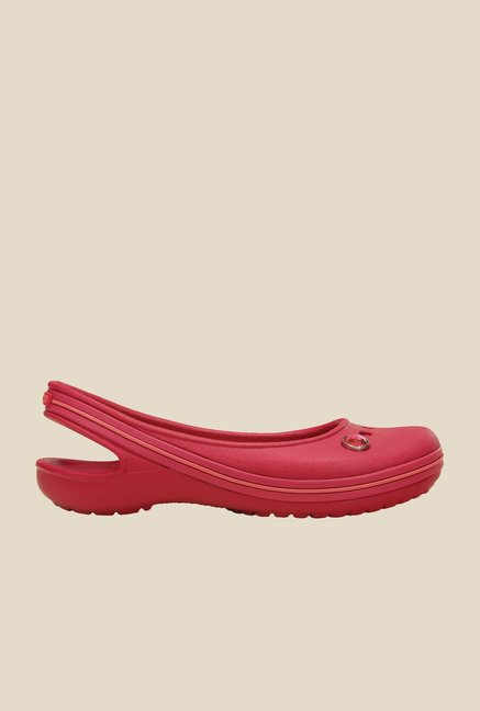 Crocs Genna II Gem Raspberry & Coral Sling Back Sandals