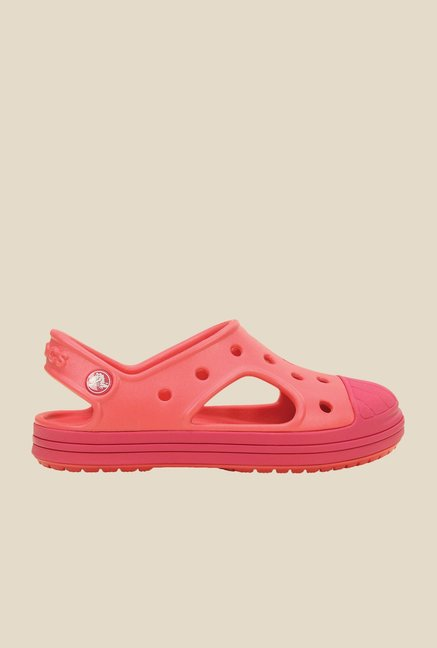 Crocs Bump It K Coral & Raspberry Sandals