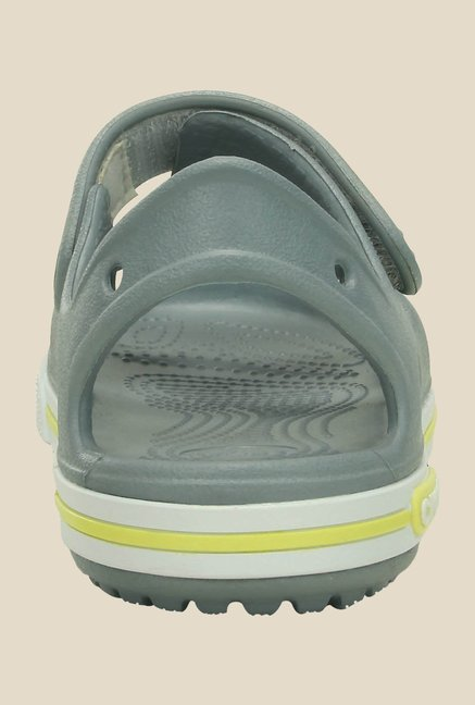 Crocs Crocband II PS Concrete & White Sandals
