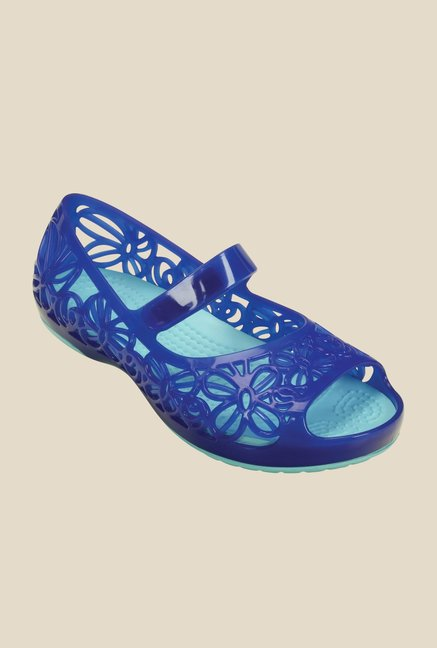 Crocs Isabella Jelly PS Cerulean Blue Mary Jane Shoes