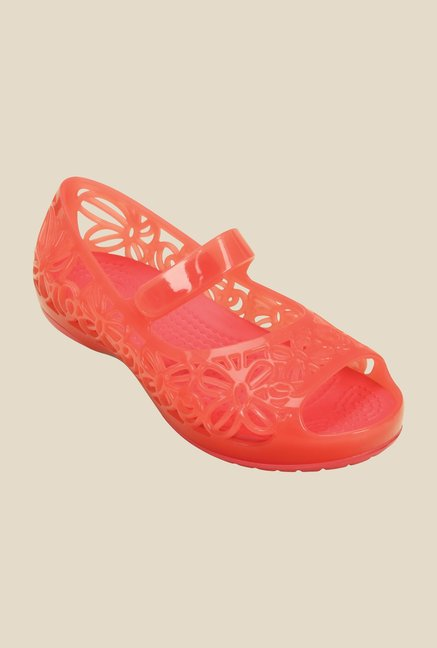 Crocs Isabella Jelly PS Coral Mary Jane Shoes