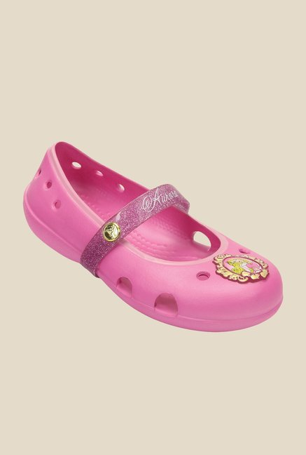 Crocs Keeley Party Pink Mary Jane Shoes