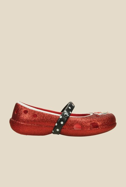 Crocs Keeley PS Red Mary Jane Shoes