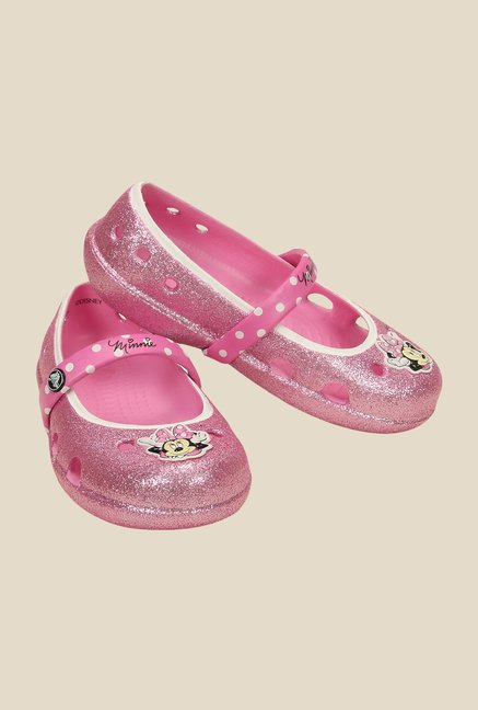 Crocs Keeley PS Carnation Mary Jane Shoes