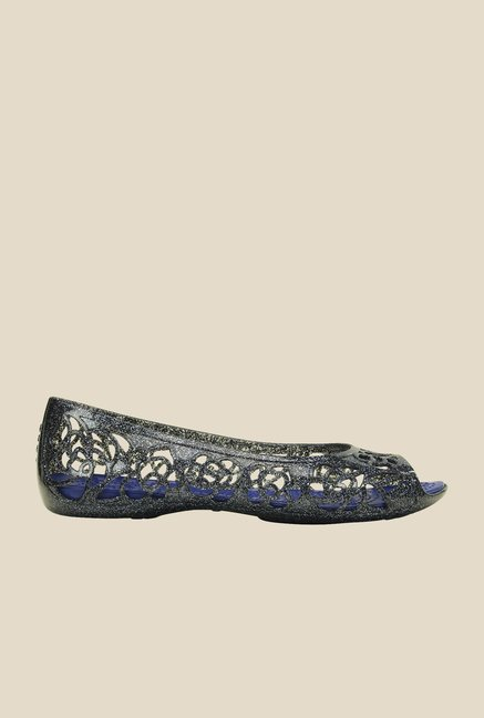 Crocs Isabella Glitter PS Navy & Cerulean Blue Peeptoe Shoes