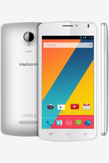 Karbonn Titanium S10 4GB Android Phone (White)