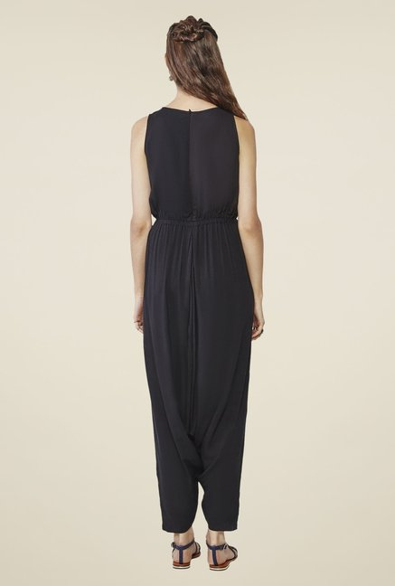 Global Desi Black Printed Jumpsuit