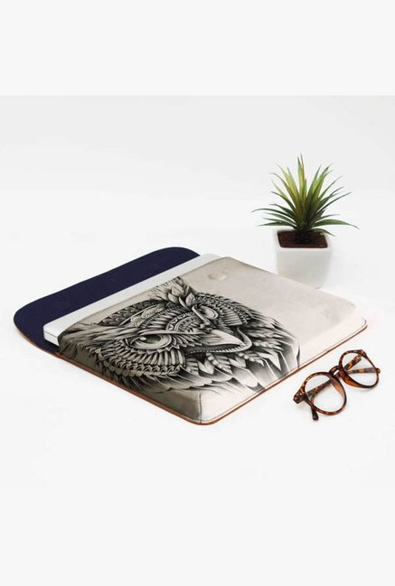 DailyObjects Ornate Owl Head MacBook Pro 13 Envelope Sleeve