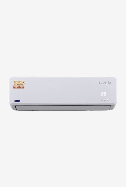 Carrier Superia 1.5 Ton 3 Star  BEE Rating 2018  Split AC Copper  White  Cyclojet