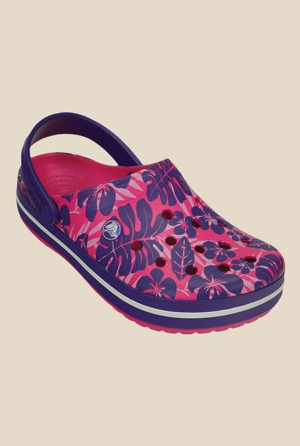 Crocs Crocband Tropical Candy Pink & Ultraviolet Clogs