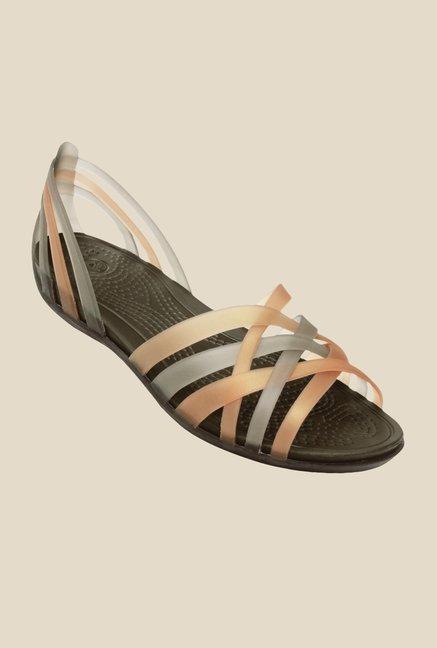 58b1dc634e080 Buy Crocs Huarache Espresso Casual Sandals For Women Online At Tata CLiQ