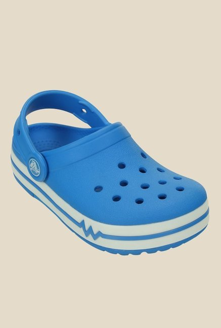 Crocs Lights PS Ocean & White Clogs