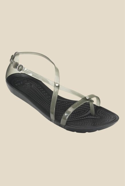 Crocs Really Sexi Black Cross Strap Sandals