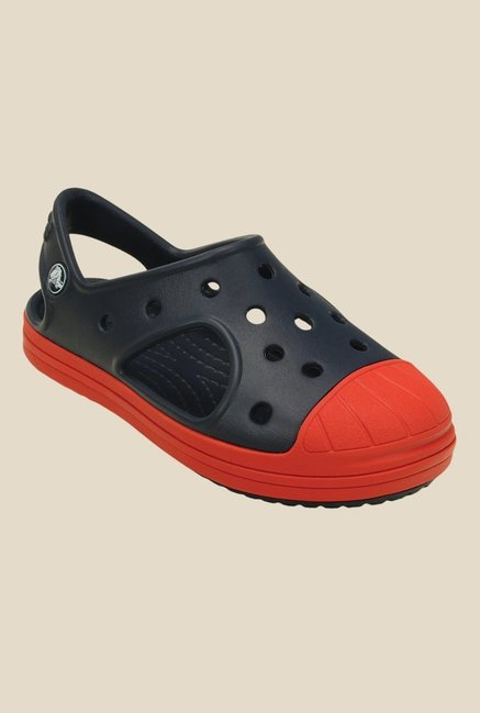 Crocs Bump It Navy & Flame Clogs