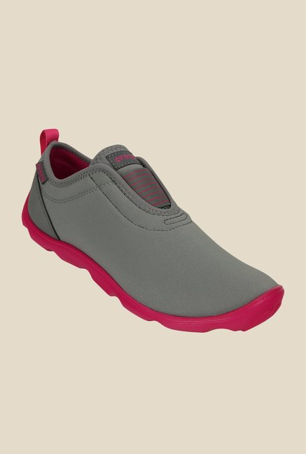 Crocs Duet Busy Day Smoke Grey & Candy Pink Slip-Ons