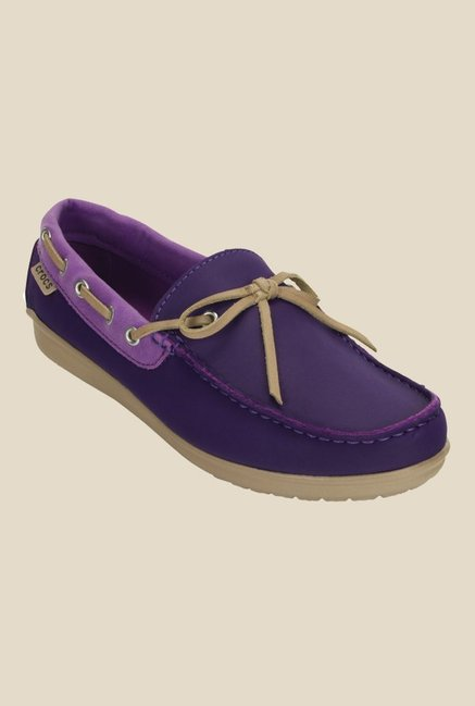 Crocs Wrap ColorLite Royal Purple & Amethyst Boat Shoes
