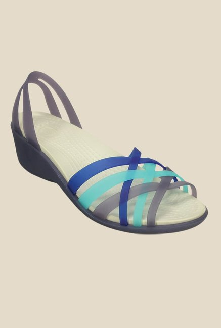 Crocs Huarache Nautical Navy & Aqua Casual Sandals