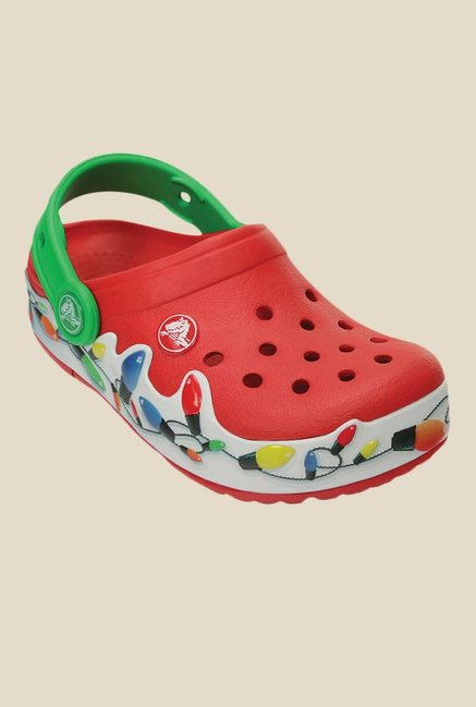 11cfa09e99a7 Buy Crocs Kids Lights Holiday Red Clogs for Girls at Best Price ...