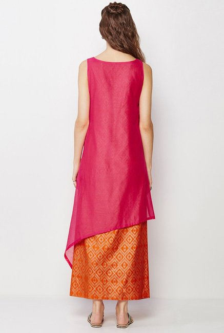 Global Desi Pink Solid Kurta