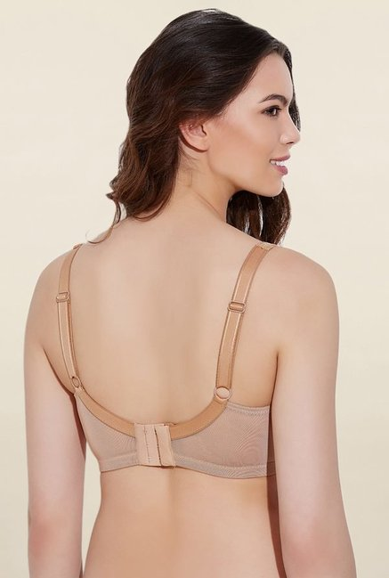 Rosaline By Zivame Brown Non Padded Bra