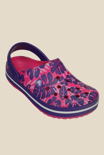 744f02d69b285 Buy Crocs Crocband Tropical Print Candy Pink Back Strap Clogs for Women at  Best Price   Tata CLiQ