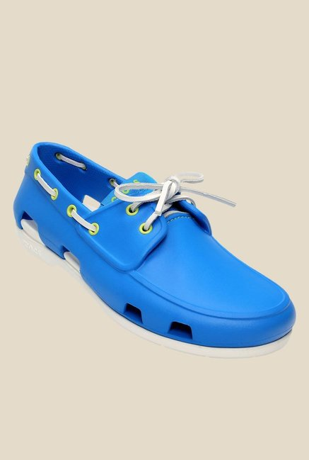 1dbf5756a79 Buy Crocs Beach Line Ocean Blue & White Boat Shoes for Men at Best Price @  Tata CLiQ