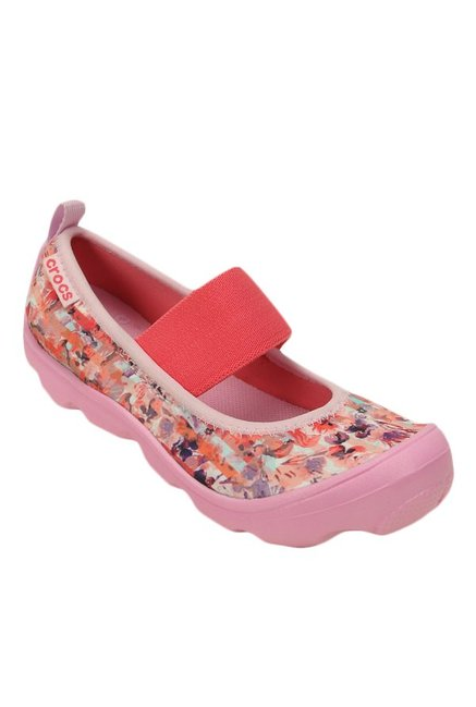 26d77ede0441 Buy Crocs Kids Duet Busy Day Floral Carnation Mary Jane Shoes for ...