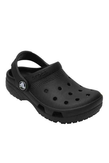 4bc7d9c5e438d Buy Crocs Kids Coast Black Back Strap Clogs for Boys at Best Price @ Tata  CLiQ