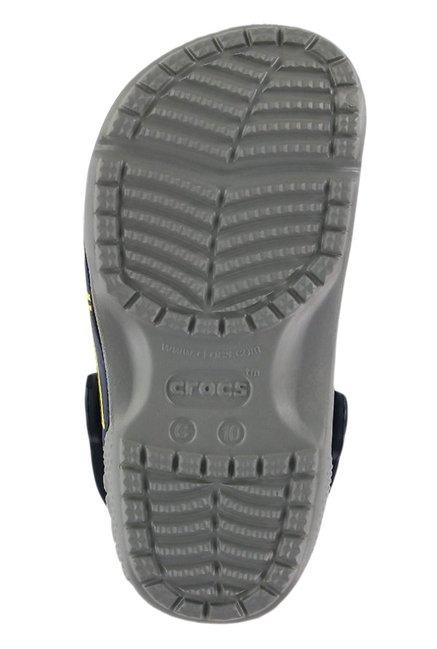 a1be30a4e17 Buy Crocs Kids FunLab Batman Smoke Grey & Blue Back Strap Clogs for ...