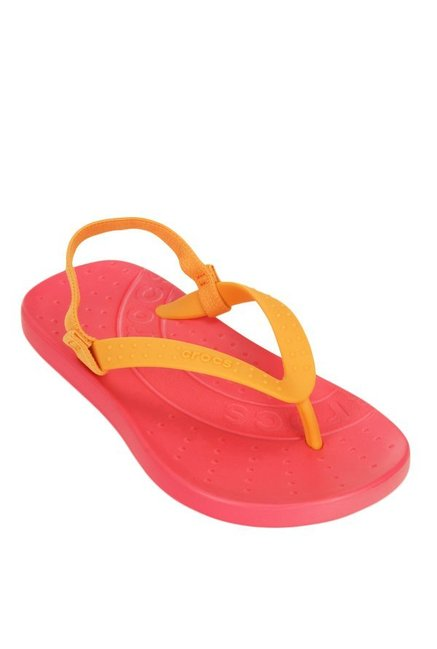 16b5286124da Buy Crocs Kids Chawaii Mango   Poppy Red Flip Flops for Girls at ...