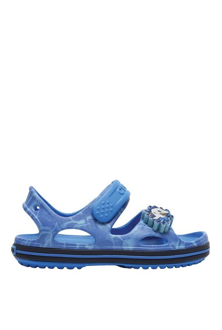 4ec92ba28866 Buy Crocs Crocband II LED Cerulean Blue Ankle Strap Sandals for Boys ...