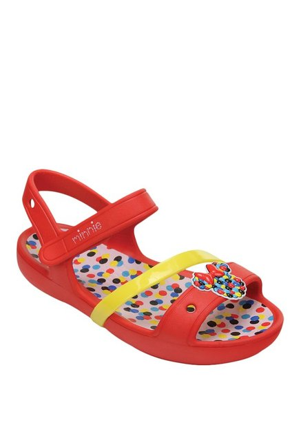 Kids Lina Minnie Red Ankle Strap Sandals