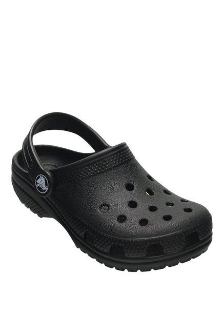 eb45de738d Buy Crocs Kids Classic Black Back Strap Clogs for Boys at Best Price @ Tata  CLiQ